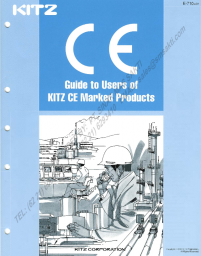 Guide to Users of KITZ CE marked Products